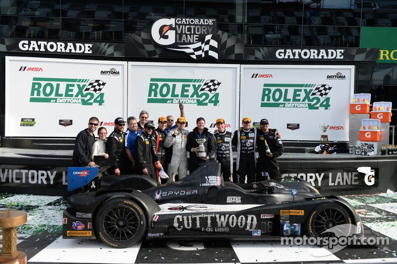 PC podium: winners Mike Guasch, Andrew Novich, Andrew Palmer, Tom Kimber-Smith