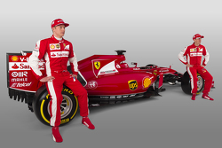 Kimi Raikkonen, Sebastian Vettel with the Ferrari SF15-T