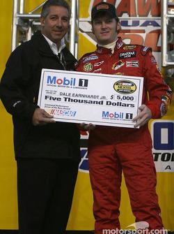 Drivers presentation: Dale Earnhardt Jr. receives a check