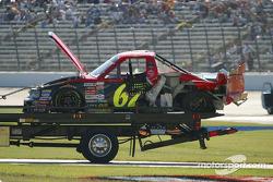 Le Truck endommagé de JR Patton