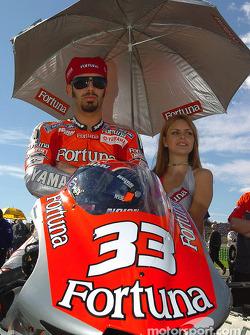 Marco Melandri on the starting grid
