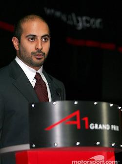 Sheikh Maktoum Hasher Maktoum Al Maktoum (UAE) CEO and President of A1 Grand Prix