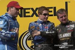Ryan Newman, Brian Vickers and Joe Nemechek