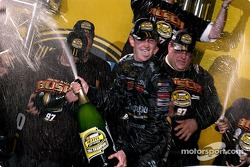 Champagne shower for Kurt Busch