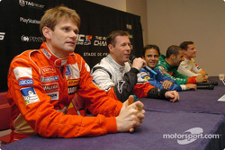 Press conference: Colin McRae at the mike