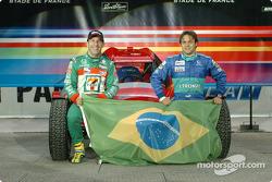 Team Brazil: Tony Kanaan and Felipe Massa