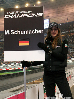 Grid girl of Michael Schumacher