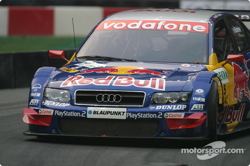 Mattias Ekström in the Abt-Audi A4 DTM car