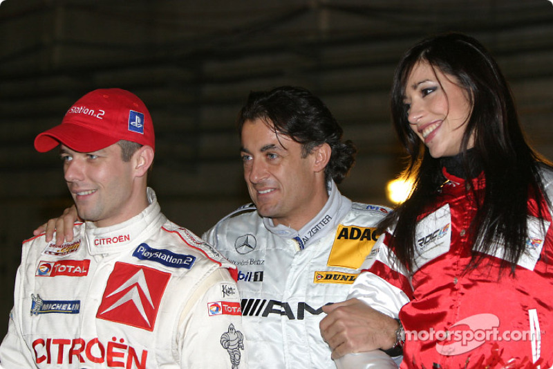 Sébastien Loeb and Jean Alesi