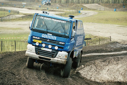 Jan de Rooy, Dany Colebunders and Clim Smulders test the rally truck DAF CF75 FAV4x4