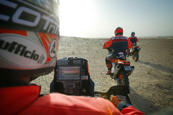 KTM team testing: riding with Giovanni Sala