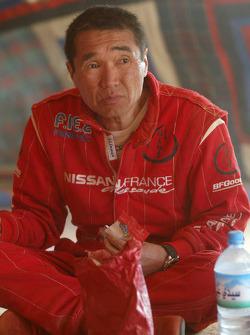 Kenjiro Shinozuka at the bivouac