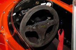 The Dallara's steering wheel
