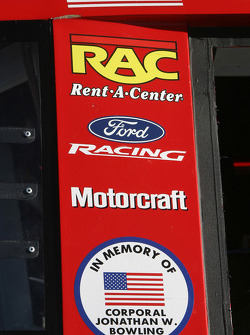 A tribute on Ricky Rudd's car