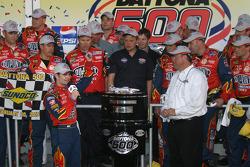 Victory lane: race winner Jeff Gordon presented with the Harley F. Earl Daytona 500 winner's trophy