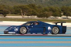 Fabio Babini tests the Maserati MC12 GT1