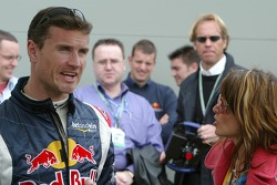 David Coulthard and pop singer Dannii Minogue