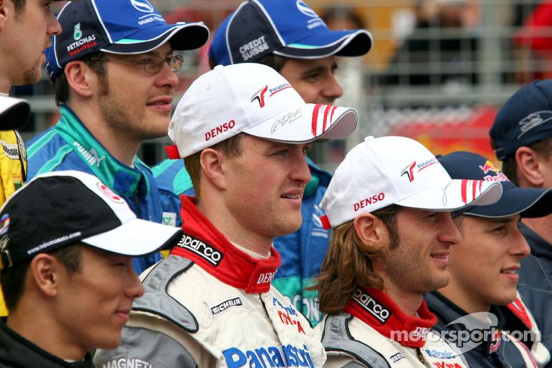 Foto de pilotos: Ralf Schumacher y Jarno Trulli