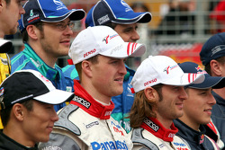 F1 drivers photoshoot: Ralf Schumacher and Jarno Trulli