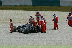 Kimi Raikkonen in the sand pit