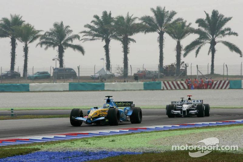 Giancarlo Fisichella batallas con Mark Webber