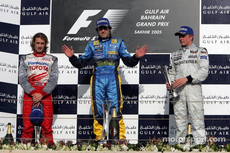 2005 - 1. Fernando Alonso 2. Jarno Trulli 3. Kimi Räikkönen