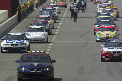 The GT cars roll off the grid