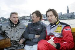 Mika Hakkinen, Mattias Ekström and Heinz-Harald Frentzen