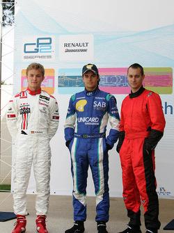 Nico Rosberg, Nelson A. Piquet and Mathias Lauda