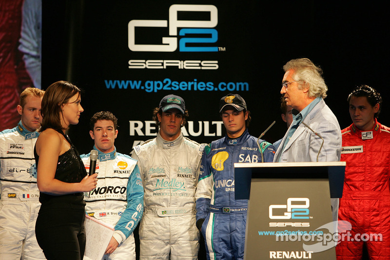 Lee McKenzie and Flavio Briatore