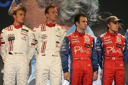 Nico Rosberg, Alex Premat, Nicolas Lapierre and Heikki Kovalainen