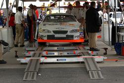 Leffler's car in NASCAR Inspection