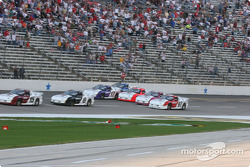 Four wide coming out of corner four