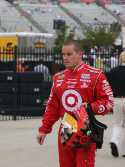 Casey Mears returns from the infield care center