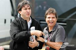 Nelson Piquet with Pasquale Lattuneddu, FOM Chief of Operations