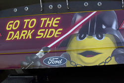 Go to the dark side on the rear of the #38