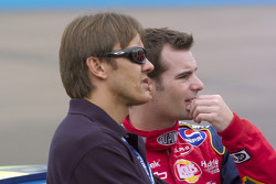 Adrian Fernandez and Jeff Gordon