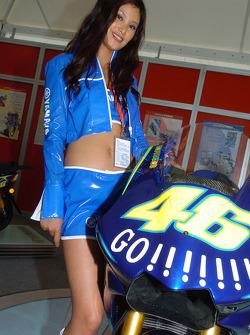 A charming Yamaha hostess
