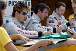 Autograph session: Seat Sport drivers Luke Hines, Jason Plato and James Pickford