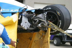 Damage to Paul Dana's car