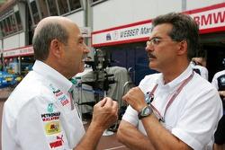 Peter Sauber and Dr Mario Theissen