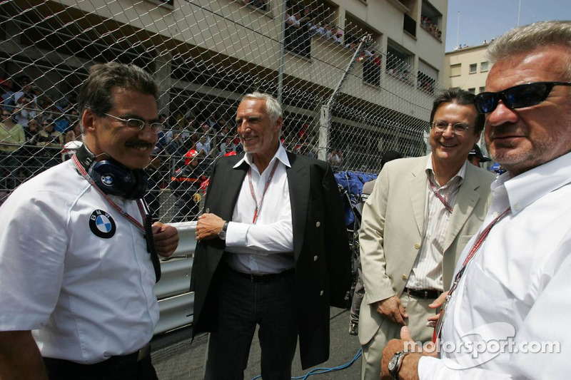 Dr Mario Theissen, Dietrich Mateschitz and Willi Webber