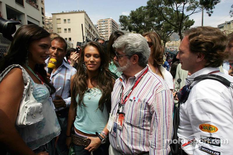 Tamara,  Petra Ecclestone y George Lucas