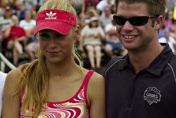 Tennis exhibition match: Anna Kournikova and Boston Reid
