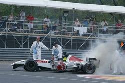 Takuma Sato out of the race