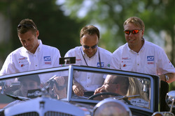 Tom Kristensen, Marco Werner and JJ Lehto