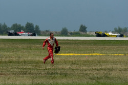 Cristiano da Matta out of the race