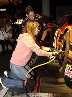 Singer Jo Jo visits Daytona USA