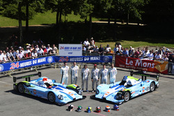 #36 and #37 Paul Belmondo Racing Courage Ford: Claude-Yves Gosselin, Karim Ojjeh, Adam Sharpe, Paul Belmondo, Didier André, Rick Sutherland