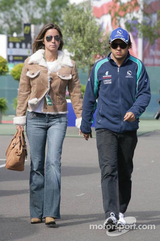 Felipe Massa y novia Rafaella Bassi